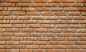 Old vintage red brick wall texture background — Stok fotoğraf