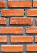 Close up Old vintage red brick wall texture background — Stok fotoğraf