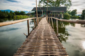 Bamboo walkway leading to the house. — Stock Photo