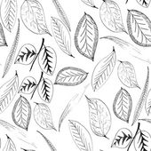 Seamless pattern with leaves plants — Stock Photo