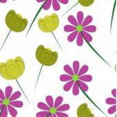 Modèle sans couture avec fleurs. — Vecteur