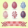 Set of easter eggs and place for text — Stock Photo #69099089