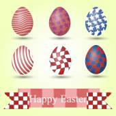 Set of easter eggs and place for text — Stock Photo