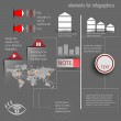 Постер, плакат: Infographics on a gray background Infographics for business
