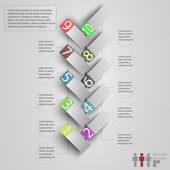 Infographics on a light background. Infographics for business. — Stock Photo