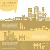 Infographics in the style of urbanization — Stock Photo