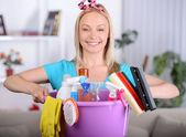 Beautiful Housewife — Stock Photo