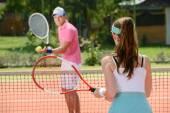 Quadra de tênis — Foto Stock