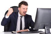Emotions Business Man — Stock Photo