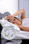 Uyuyan kadın — Stok fotoğraf