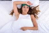 Woman sleeping — Stock Photo