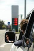 Stazione di rifornimento benzina — Foto Stock