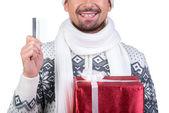 圣诞节男 — 图库照片