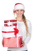 圣诞妇女 — 图库照片