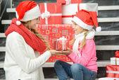 圣诞节家庭 — 图库照片
