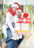圣诞夫妇 — 图库照片
