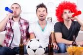 Aficionados al futbol — Foto de Stock