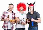 Football fans — Stock Photo