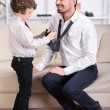 Father and son — Stock Photo #58487695