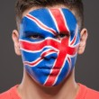 Face art. Flags. — Stock Photo #59348637