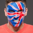 Face art. Flags. — Stock Photo #59348675