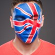 Face art. Flags. — Stock Photo #59348739