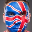 Face art. Flags. — Stock Photo #59348773