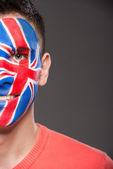 Face art. Flags. — Foto Stock