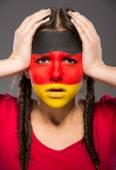 Искусство лица. флаги. — Стоковое фото