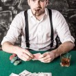 Gangster. Poker. — Stock Photo #65174617