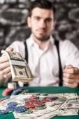 Gangster. Poker. — Stock Photo