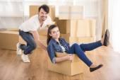 Movendo-se em casa — Fotografia Stock