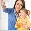 Mom with little daughter — Stock Photo #71526383