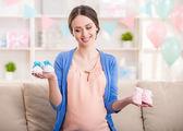 Pregnant woman. — Stock Photo