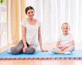 Yoga at home — Stock Photo
