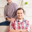 Father and son at home — Stock Photo #75284883