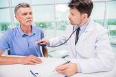 Doktor ve hasta — Stok fotoğraf