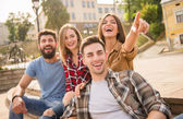 Friends outdoors — Stock Photo