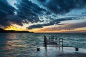 Sunset over Piran, Slovenia — Стоковое фото