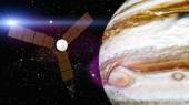Jupiter and satellite juno — Stock Photo