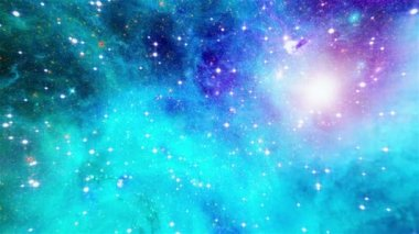 Flight through galaxy — Stock Video