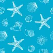 Sealife seamless pattern — Stock Vector