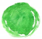 Green watercolor spot. — Stock Photo