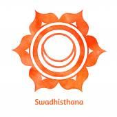 Swadhisthana chakra. — Stock Vector