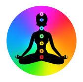 Woman. Meditation — Stock Vector