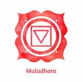 Muladhara chakra. — Stock Vector