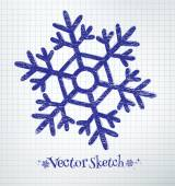 Snowflake drawn — Vetorial Stock