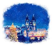 Winter Prague. — Стоковое фото