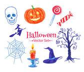 Halloween doodles. — Stock Vector
