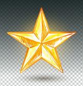 Altın yıldız. — Stok Vektör